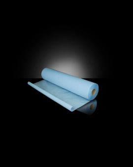 Blue plastic lined exam sheets 50cmx38cm – Rolls of 180 pieces