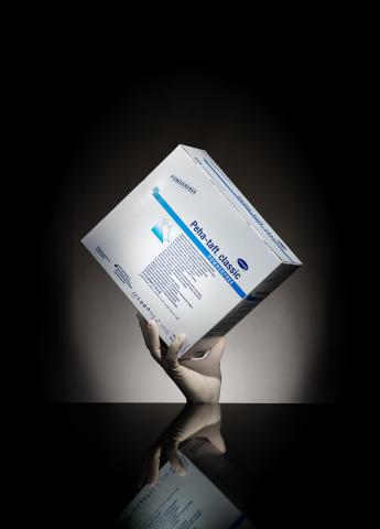 Gants d'examen blancs Latex Harmann Stériles - Boîte de 50 paires
