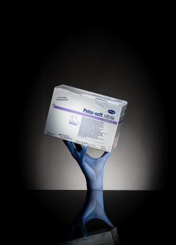 Gants d'examen bleus nitrile Hartmann stériles – Boîte de 50 paires