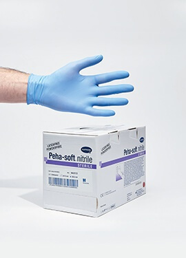Hartmann Sterile Examination Gloves, blue nitrile – Box of 50 pairs