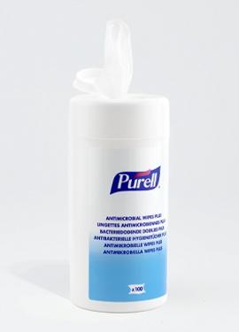 Lingettes désinfectantes Purell par 100